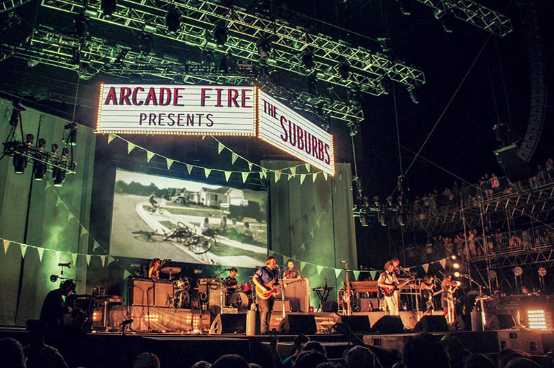 arcade fire the suburbs tour photo