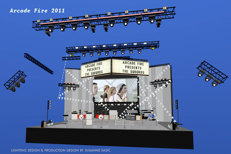 Arcade Fire stage rendering