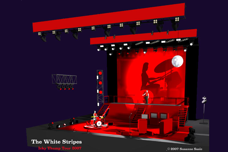 white stripes stage rendering